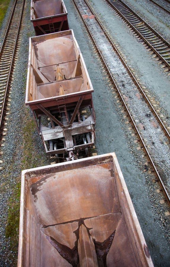 Leere Frachtlastwagen stockfotografie