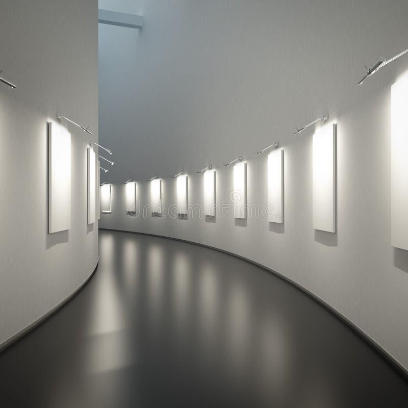 Leere Galerie stock abbildung