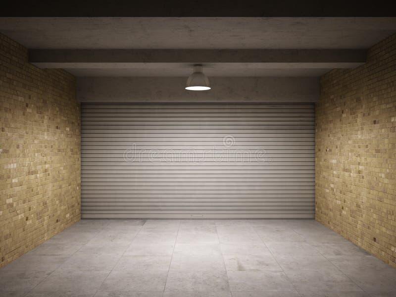 Leere Garage lizenzfreie abbildung