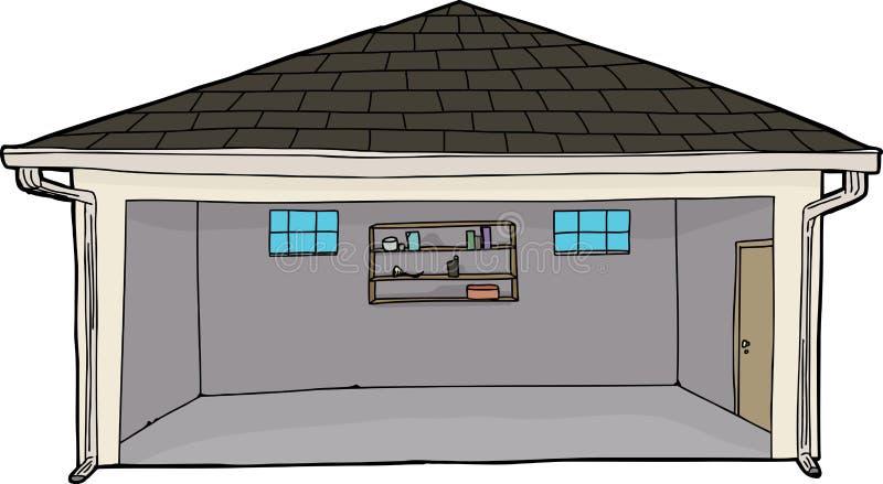 Leere Garage Mit Eingang Stock Abbildung. Illustration Von