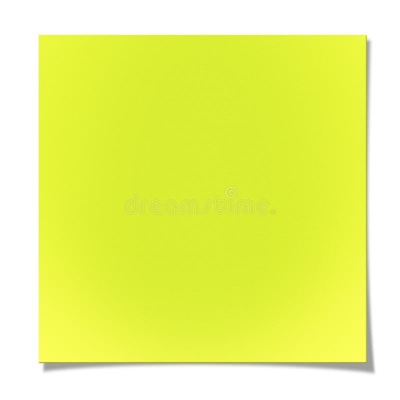 Leere gelbe klebrige Anmerkung vektor abbildung