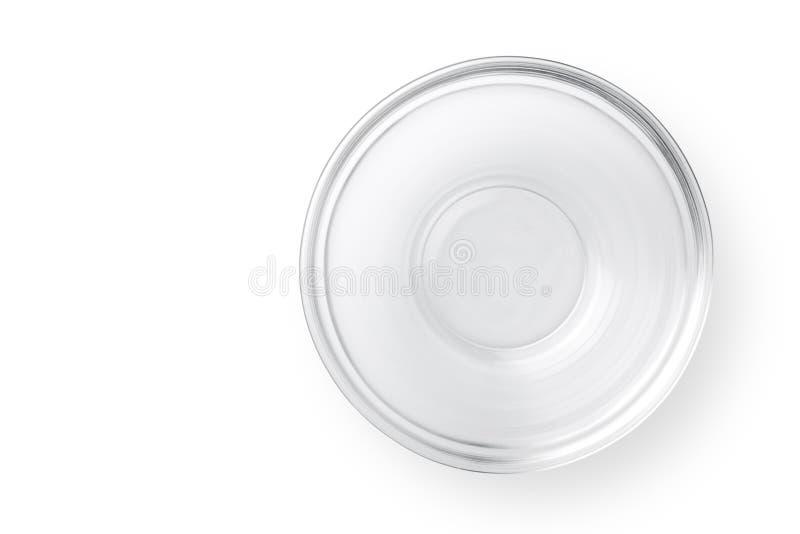 Leere Glasschüssel stockfotos
