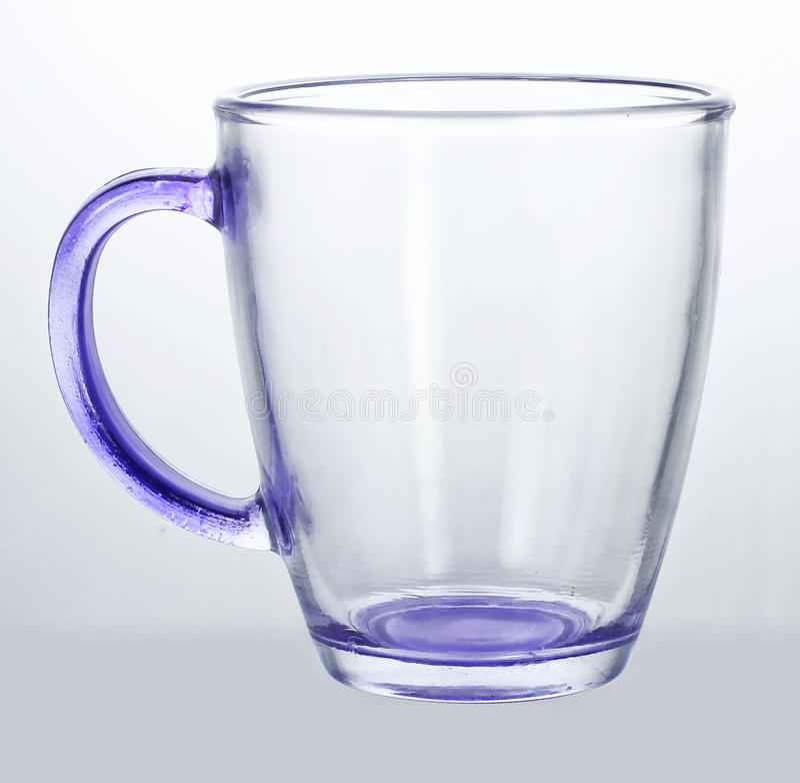 Leere Glasschale lizenzfreie stockbilder