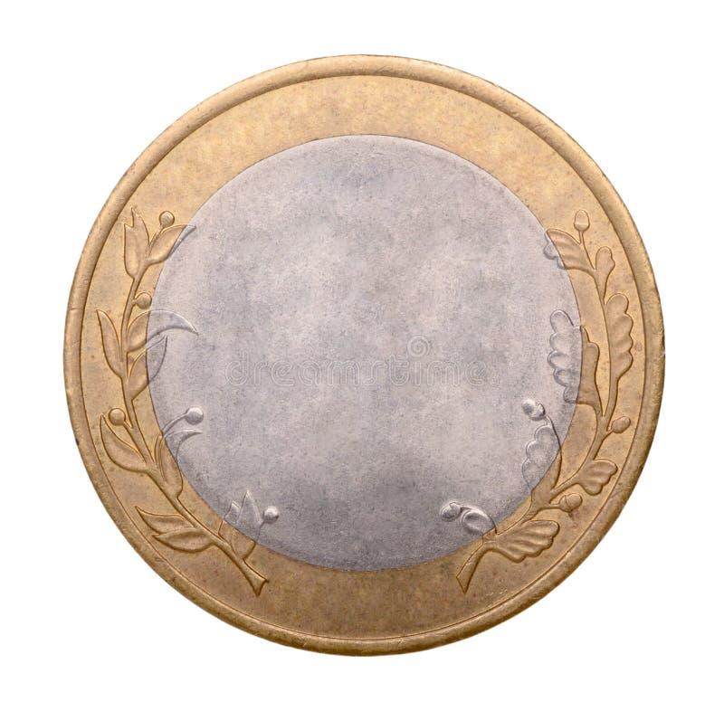 Leere Gold- und Silbermünze stockbild