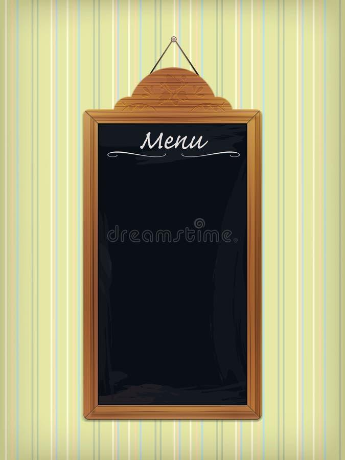 leere h lzerne restaurant tafel vektor abbildung illustration von hintergrund tapete 37934552. Black Bedroom Furniture Sets. Home Design Ideas