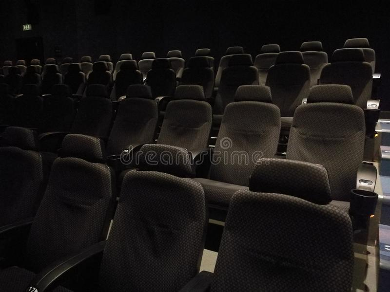 Leere Halle des Films stockfotos