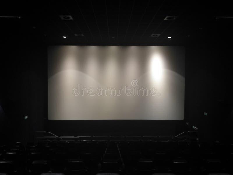 Leere Halle des Films stockbilder
