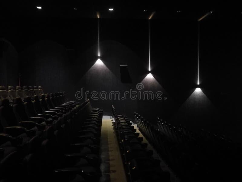 Leere Halle des Films lizenzfreies stockbild