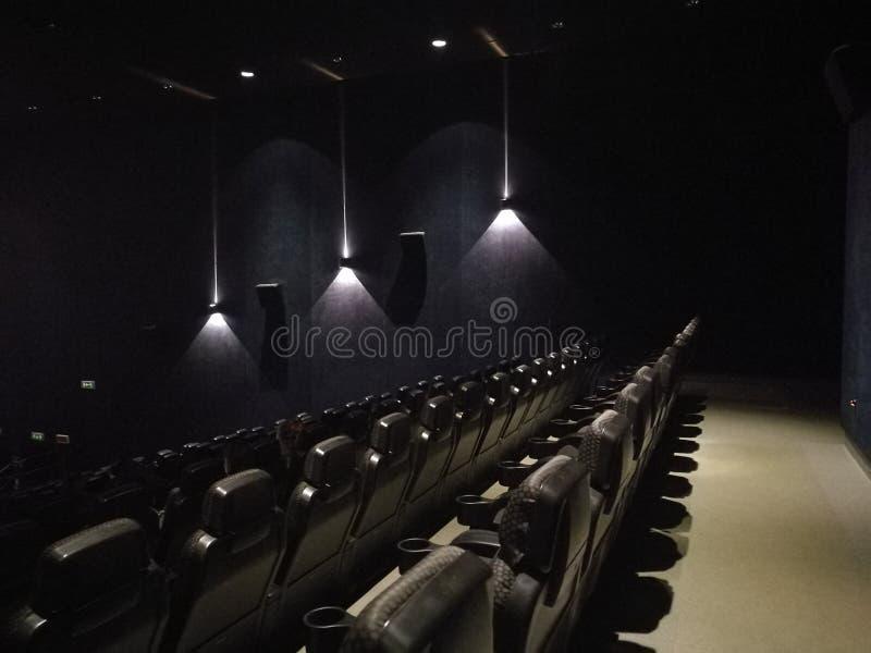 Leere Halle des Films lizenzfreie stockfotos