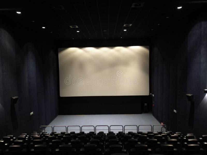 Leere Halle des Films stockfoto