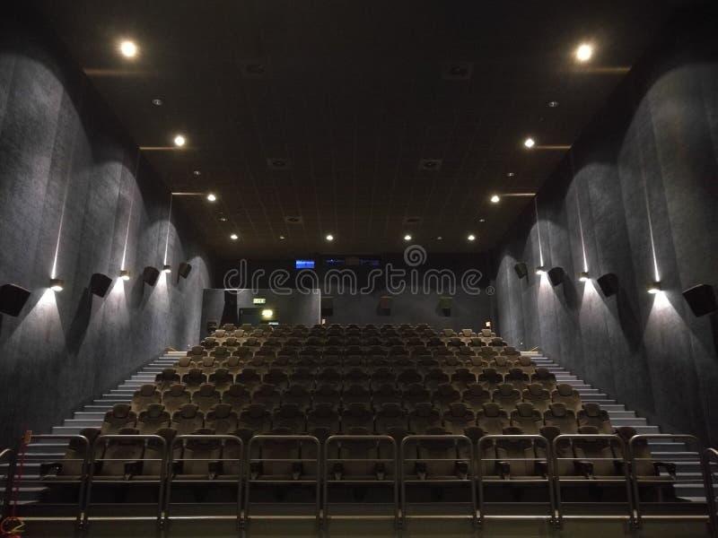 Leere Halle des Films lizenzfreie stockfotografie