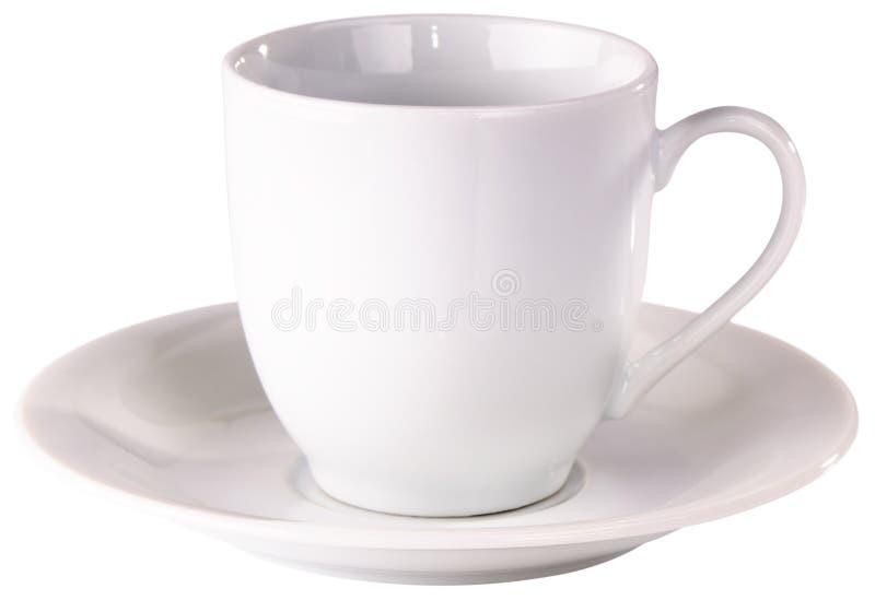 Leere Kaffeetasse stockbild