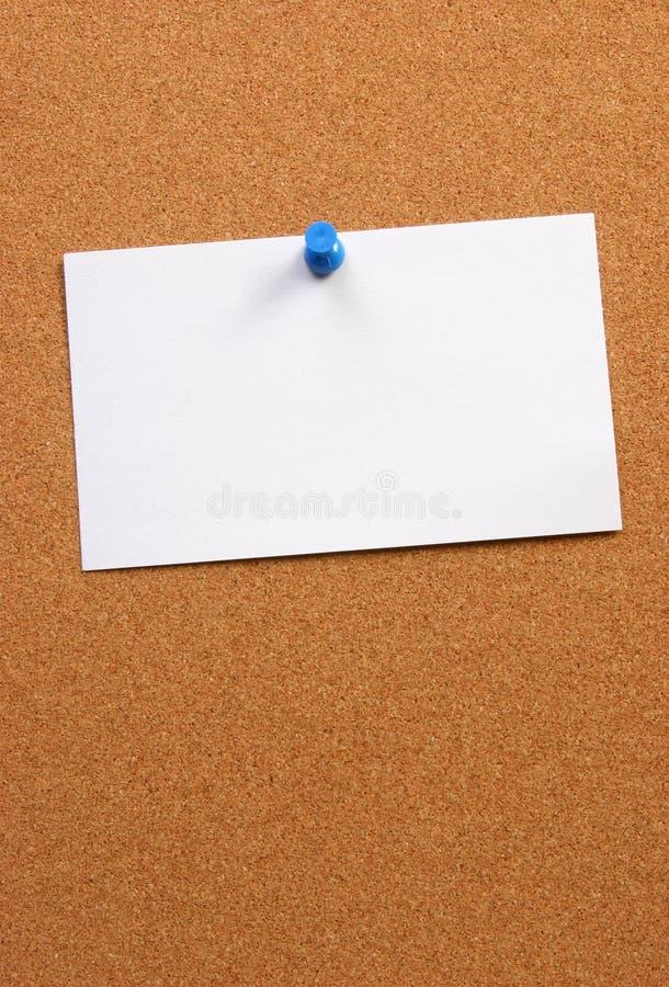 Leere Karte auf einem Vorstand horizontal mit Platz lizenzfreies stockfoto