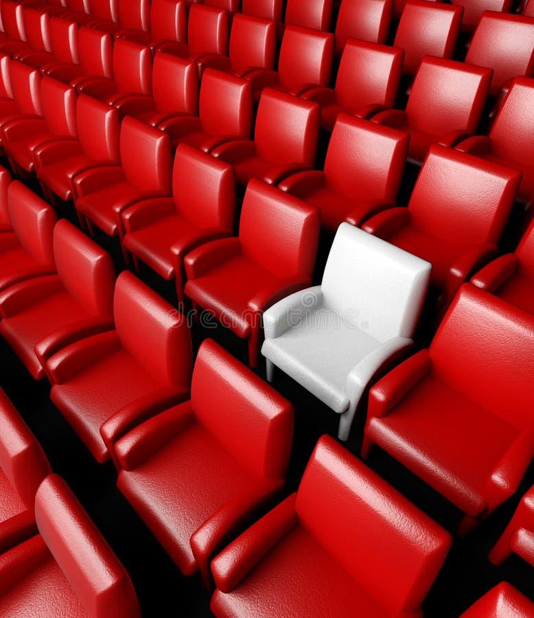 Leere Kinohalle mit Auditorium stockfotos