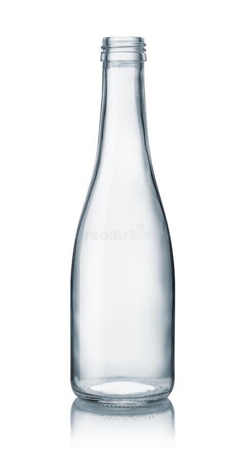 Leere Klarglasflasche stockbild