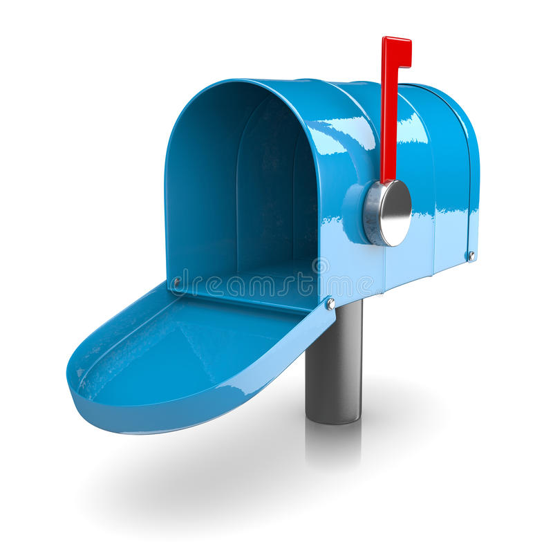 Leere Mailbox stock abbildung