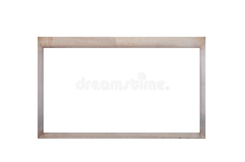 Leere Metallanschlagtafel lokalisiert auf Weiß stockbild