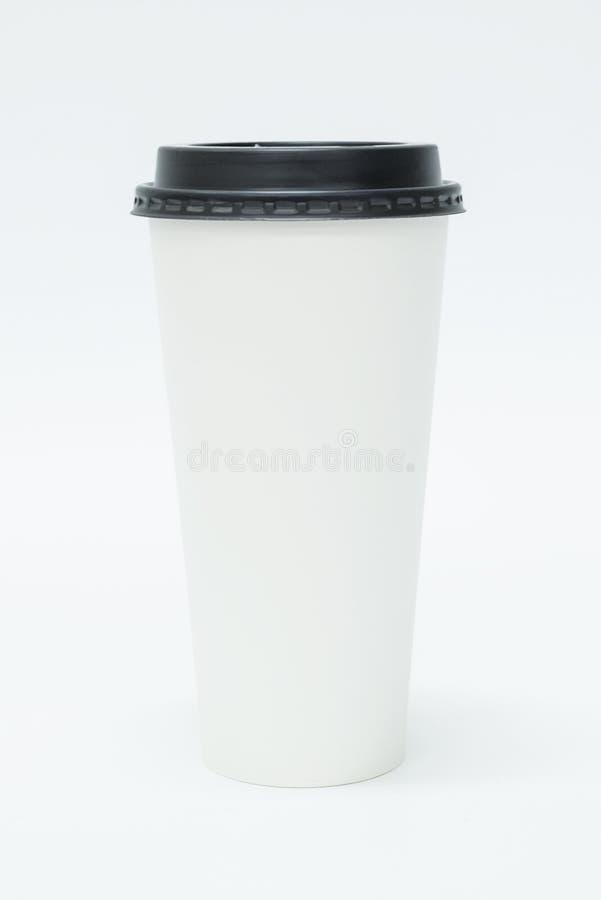 Leere Mitnehmerkaffeetasse stockbild