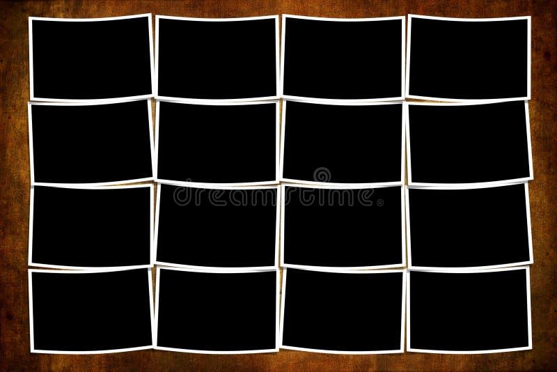Leere Polaroide über grunge Hintergrund stock abbildung