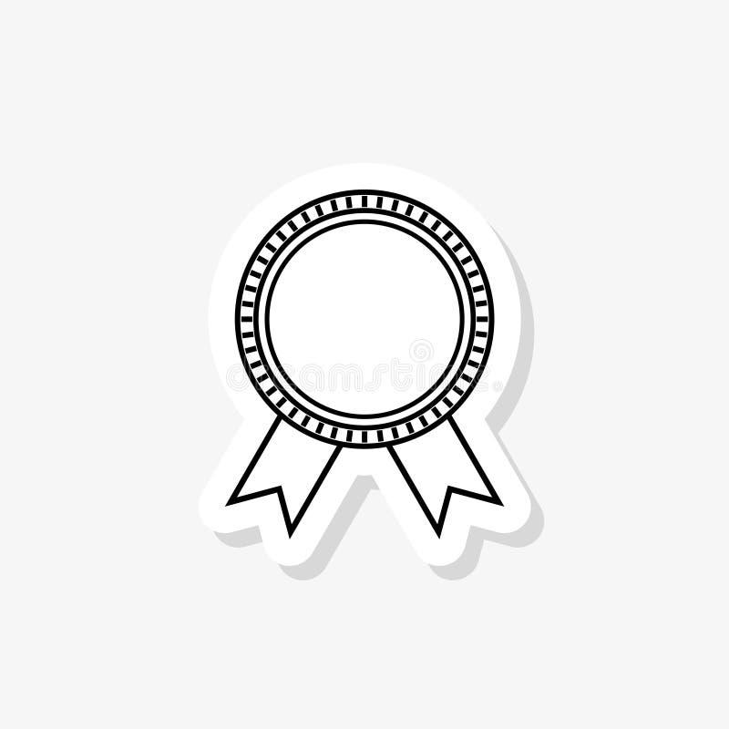 Leere Preisbandrosetten lokalisiert auf Weiß lizenzfreie abbildung
