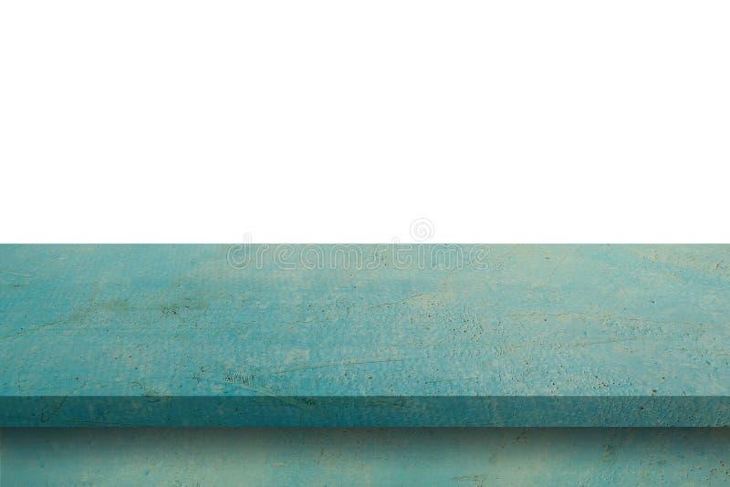 Leere Purplehearttabelle auf weißem Hintergrund des Isolats und Anzeigenmontage mit Kopienraum für Produkt lizenzfreie stockfotografie