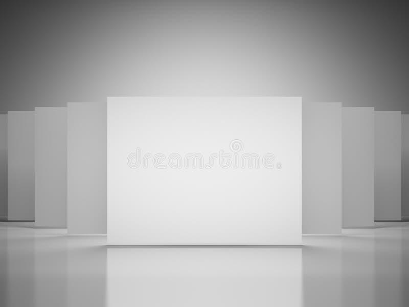 Leere Quadrate der Galerie stock abbildung