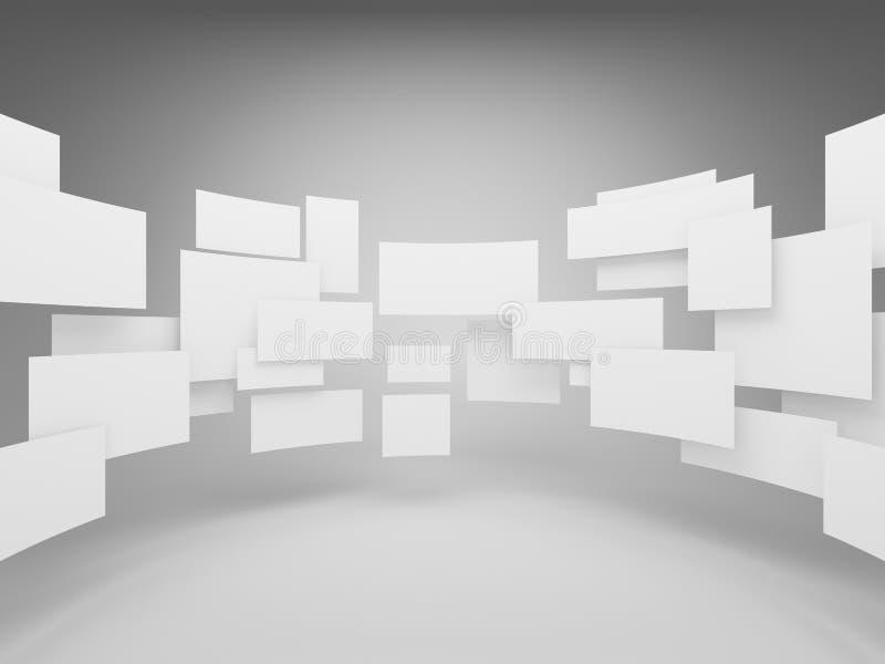 Leere Quadrate der Galerie stockbild