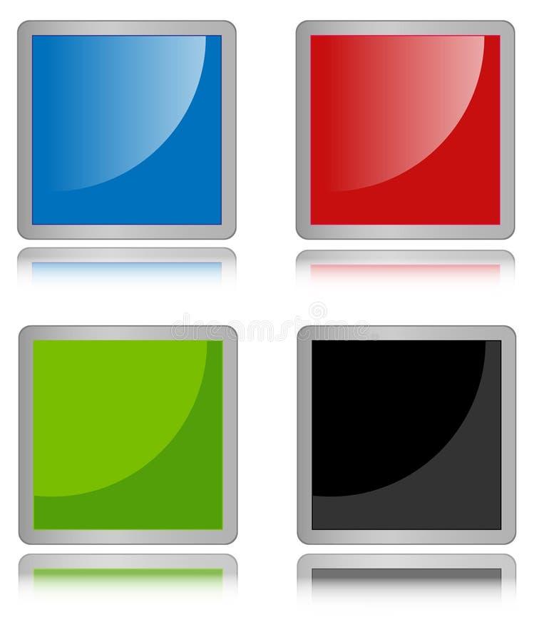 Leere quadratische Ikonen