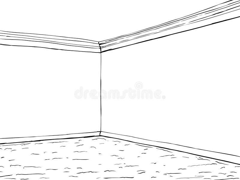 Teppich gezeichnet  Leere Raum-Ecke Mit Teppich Stock Abbildung - Bild: 65432143