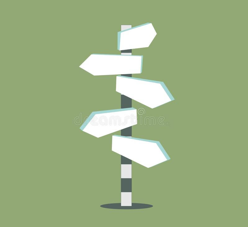 Leere Richtungs-Wegweiser-Zeichen-Pfeil-Ikone lokalisiert auf Hintergrund lizenzfreie abbildung