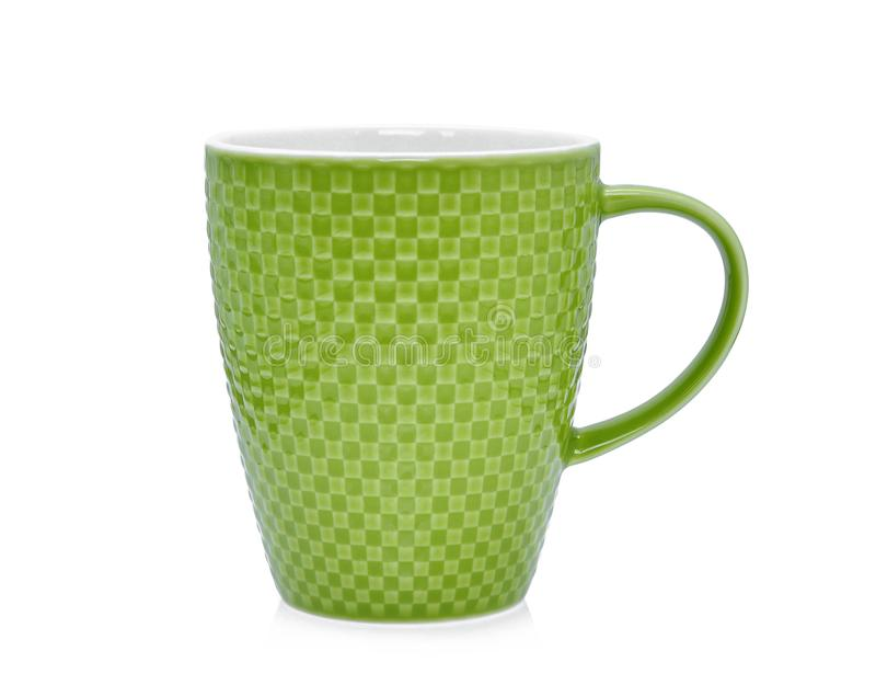 Leere Rohkaffeeschale lokalisiert auf Weiß stockfoto