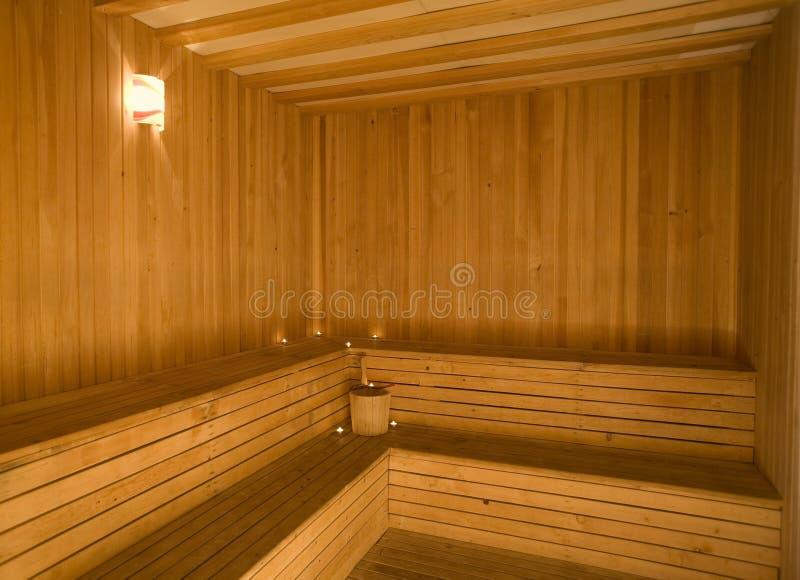 Leere Sauna stockfotografie