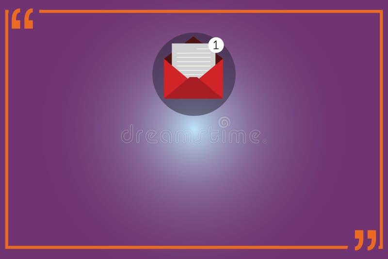 Leere Schablone des Geschäfts für Plan für Einladungsgrußkarten-Förderungsplakat-Beleg offenen Umschlag mit Papierneuem stock abbildung