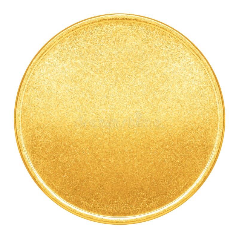 Leere Schablone für Goldmünze oder Medaille stockbild