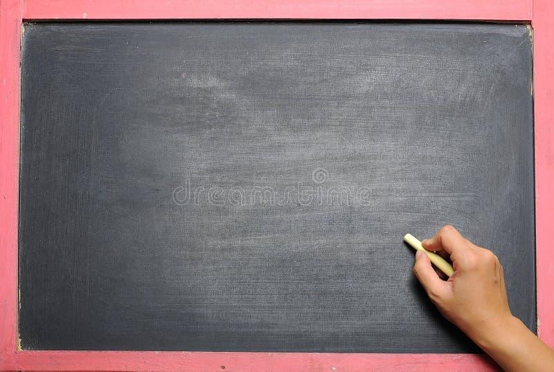Leere schwarze Tafel stockfoto