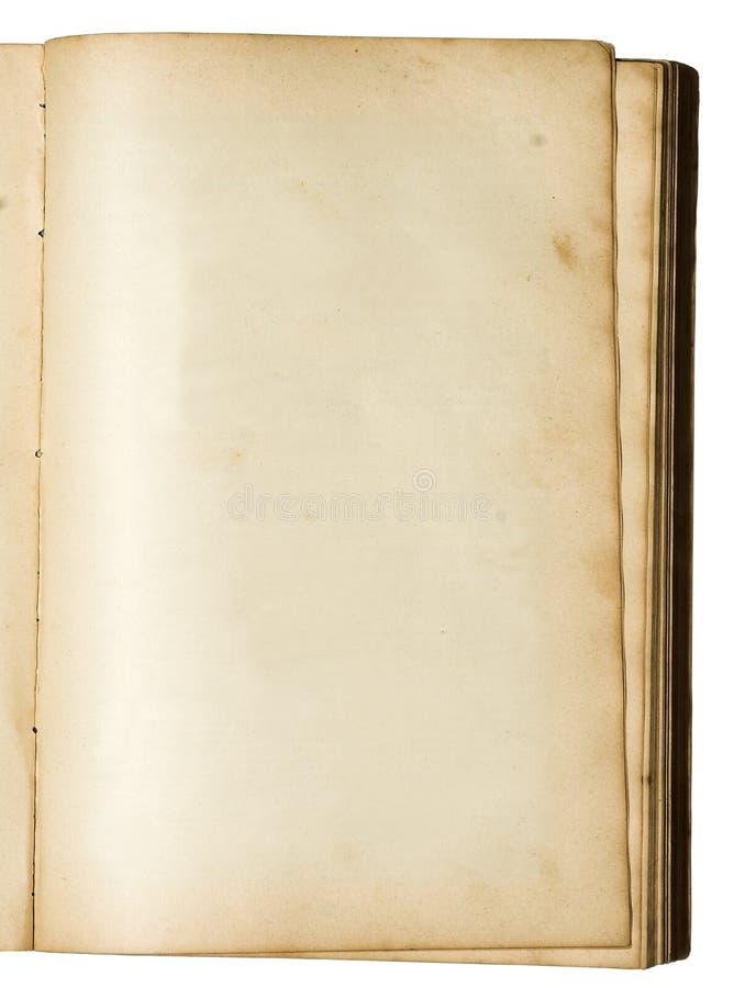 Leere Seite eines sehr alten Buches stockbild
