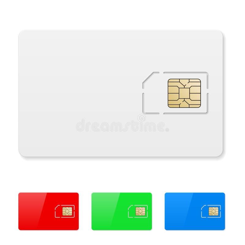 Leere SIM Karte lizenzfreie abbildung
