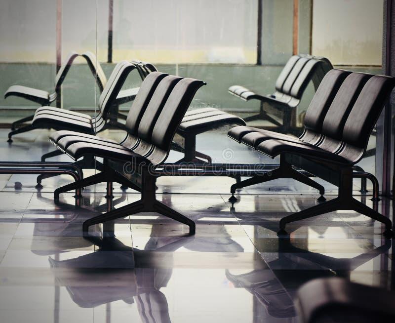 Leere sitzende Vorbereitungen für die Passagiere auf Lager Fotografie lizenzfreie stockfotografie