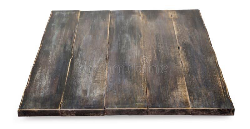 Leere Spitze des Holztischs stockfotos