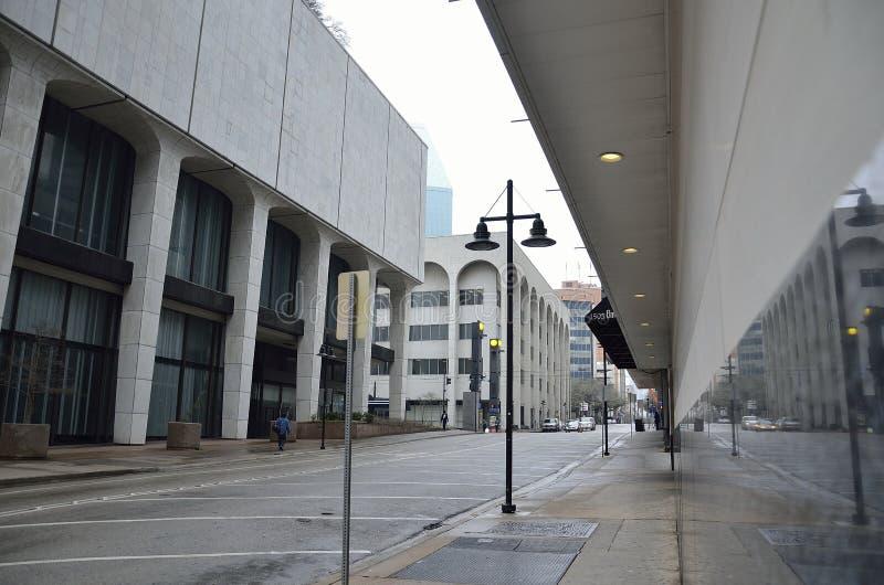Leere Stadt von Dallas, Licht lizenzfreies stockfoto