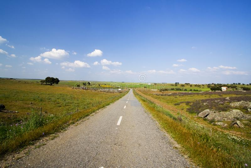 Leere Straße in der Landschaft lizenzfreie stockfotografie