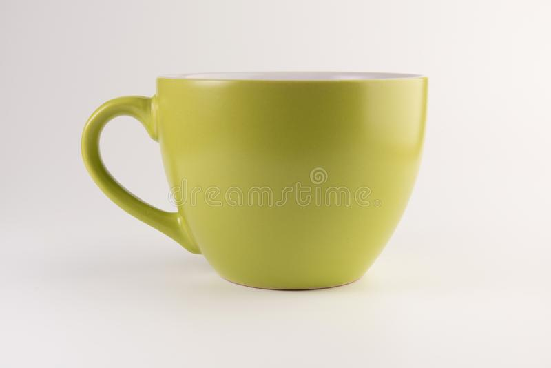 Leere Teeschale oder Kaffeetasse lizenzfreies stockbild