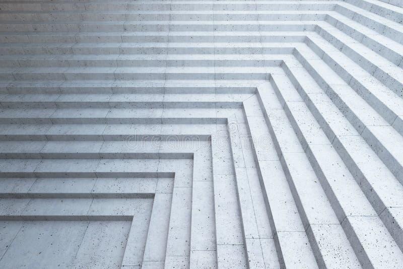 Leere Treppe in der Stadt stock abbildung