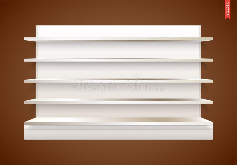 Leere Vektor-Ladenregale mit Hintergrund Kann separat verwendet werden lizenzfreie abbildung