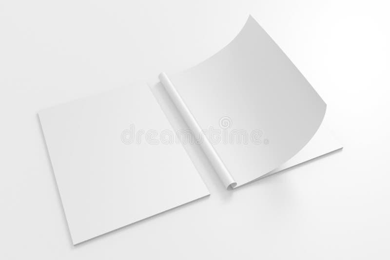 Leere volle Drehung Zeitschrift lokalisiert auf Weiß lizenzfreie abbildung