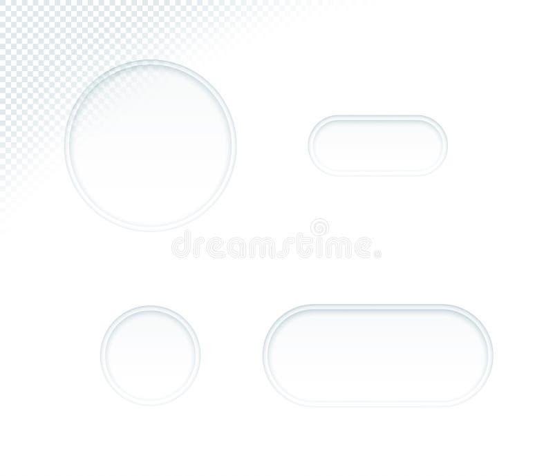 Leere Weißbuch-herausgeschnittene Kreis-Formen des Vektor-3d eingestellt stock abbildung