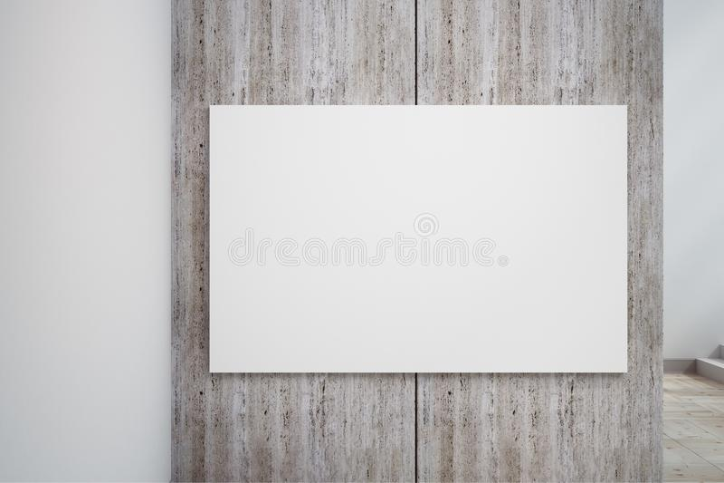 Leere weiße Betonmauerfahne lizenzfreie abbildung
