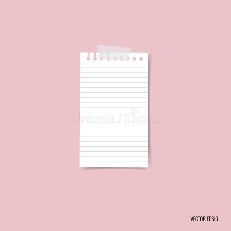 Leere weiße Briefpapiere, bereiten für Ihre Mitteilung vor Vektor illustra vektor abbildung