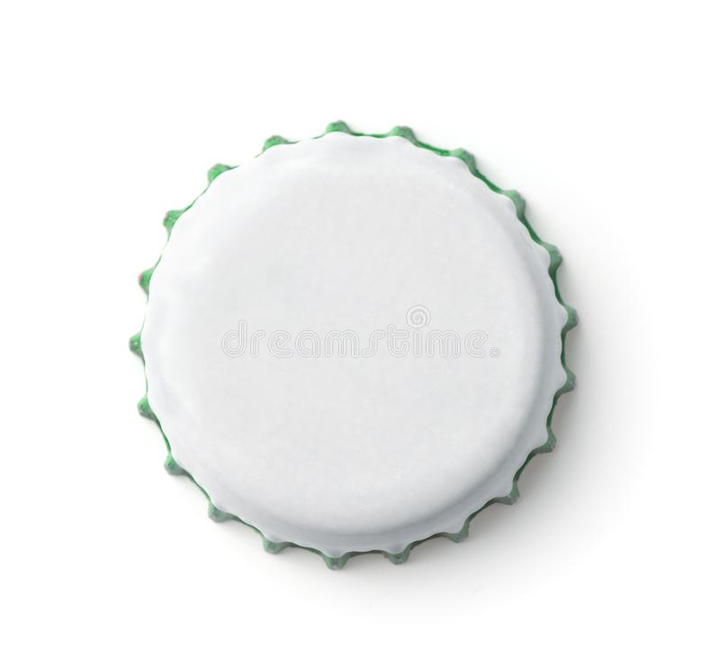 Leere weiße Flaschenkronenkappe lizenzfreie stockfotografie