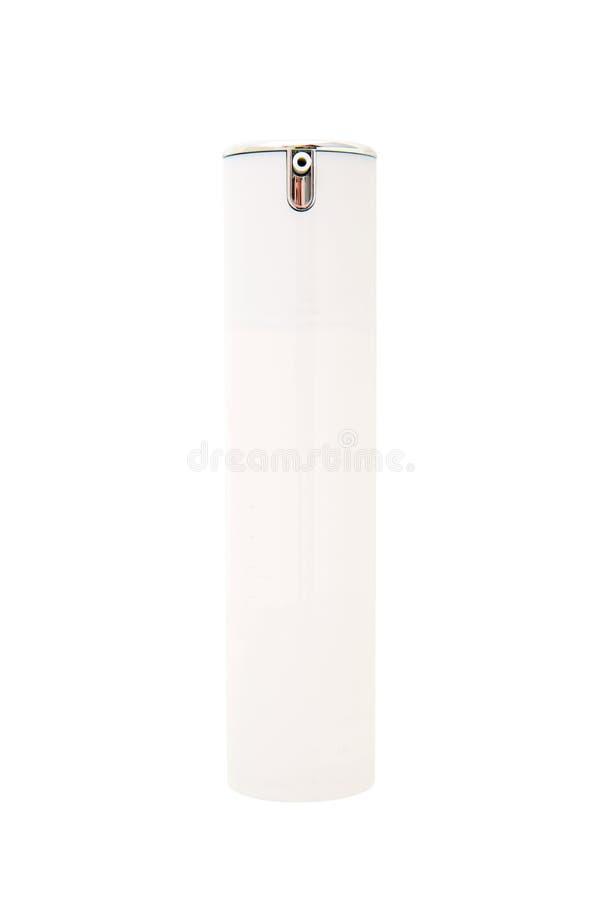 Leere weiße kosmetische Pumpe lizenzfreies stockbild